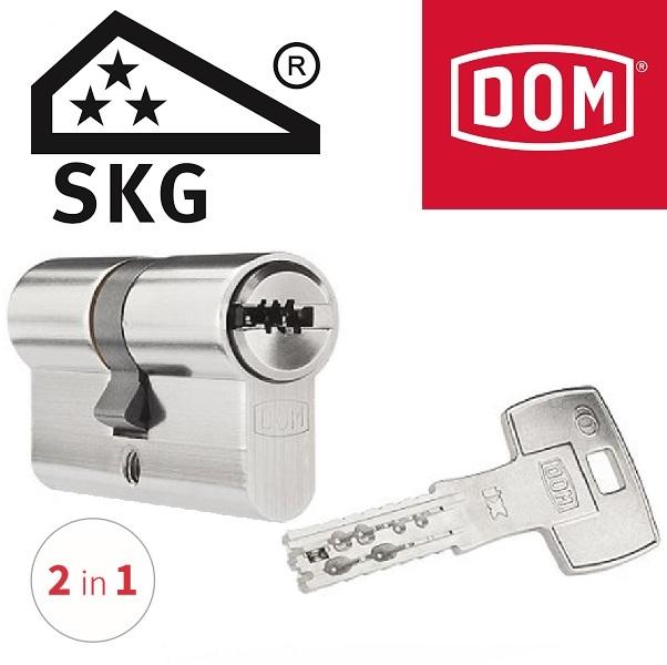 DOM ix Twinstar 2 in 1 veiligheidscilinder SKG3